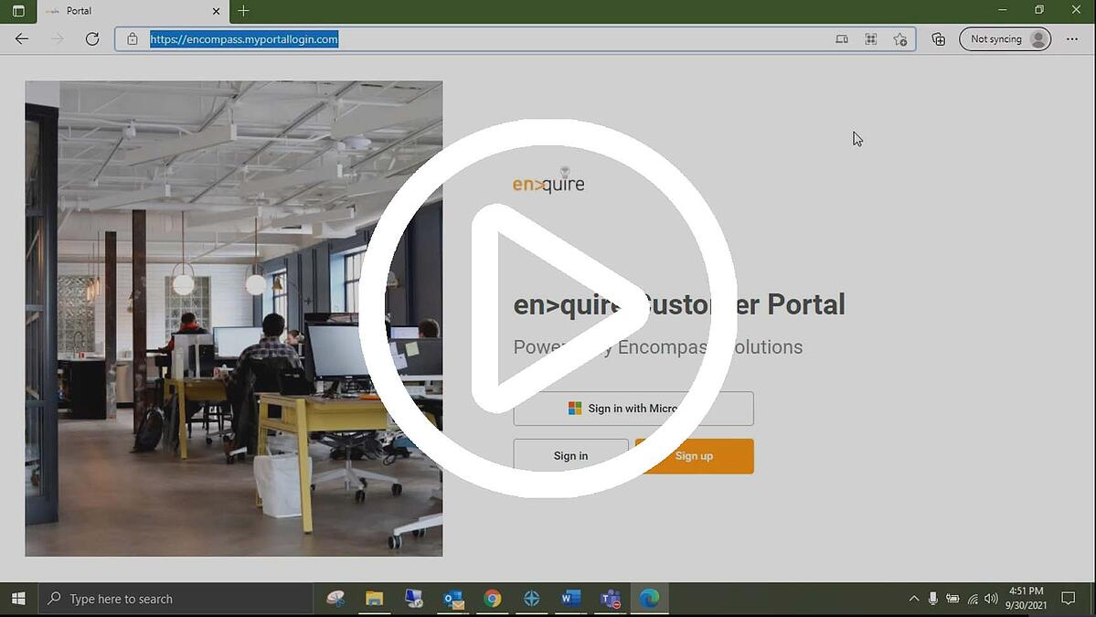 Enquire Sign In with Microsoft-1