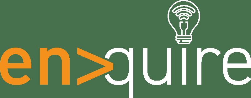 enquire logo white